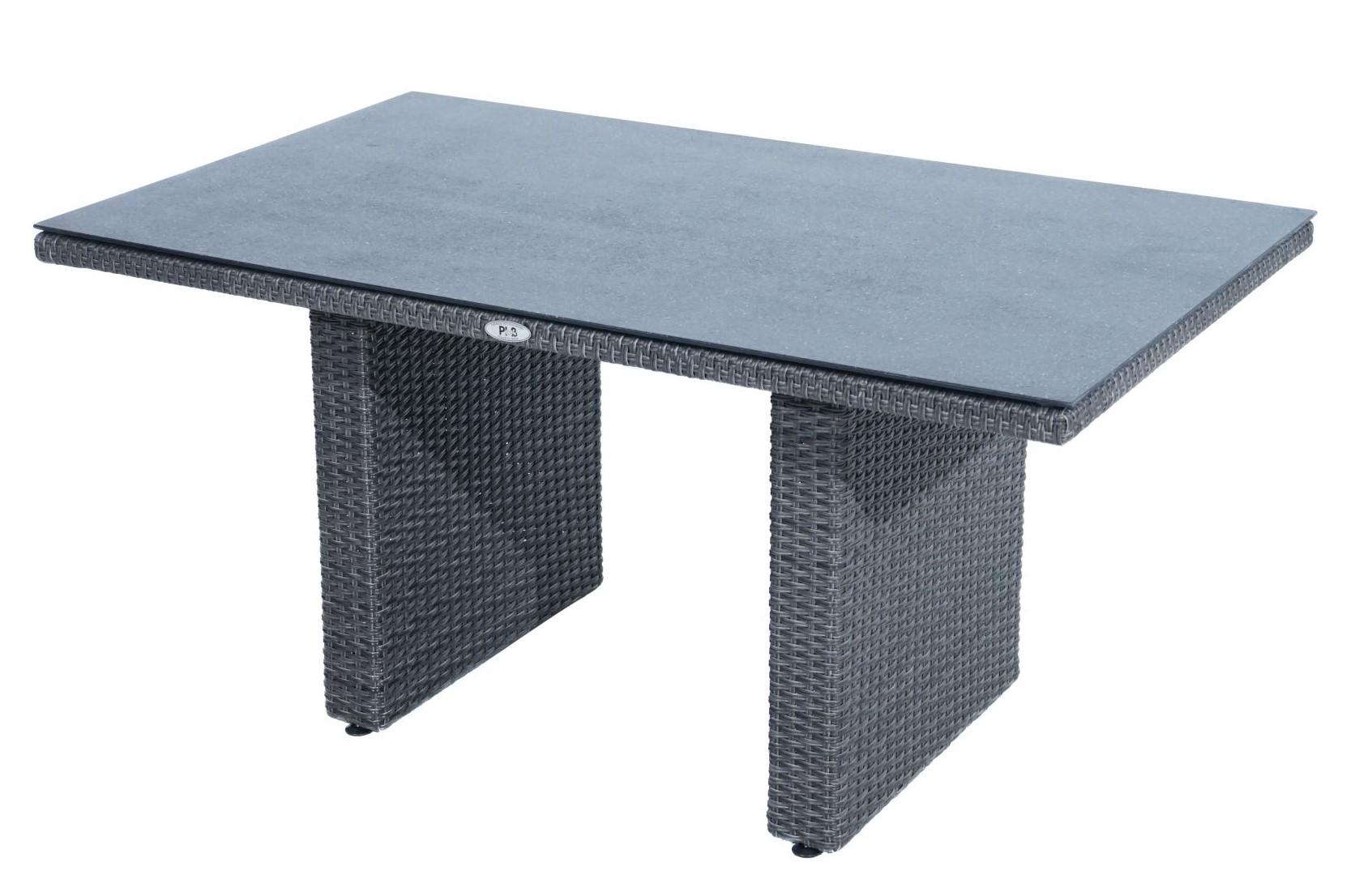 kaffeetisch rocking polyrattangeflecht 140x85cm. Black Bedroom Furniture Sets. Home Design Ideas