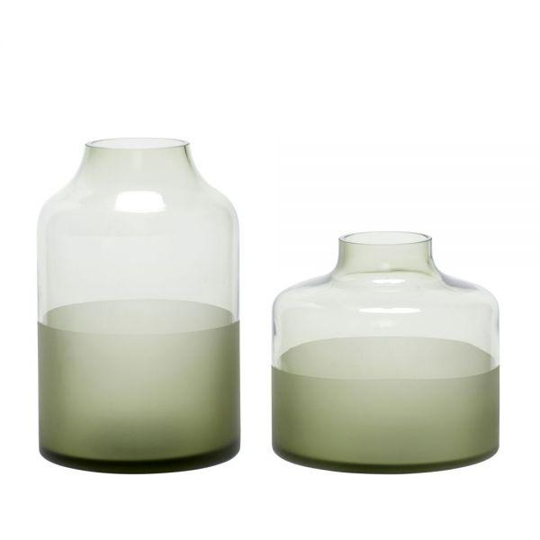 Vase JETTE 2er Set grün