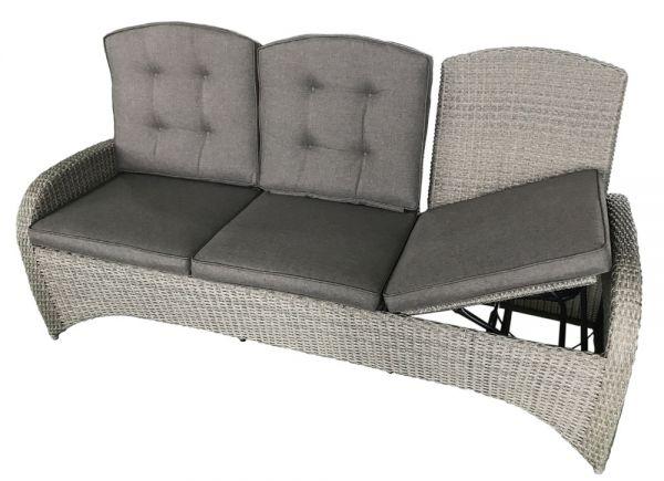 Comfort-3er-Sofa KIBICO Polyrattangeflecht