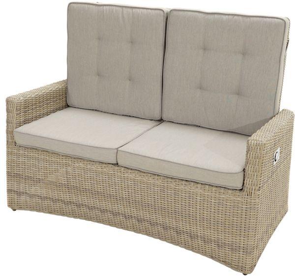 Comfort-2er-Sofa SAHARA Polyrattangeflecht