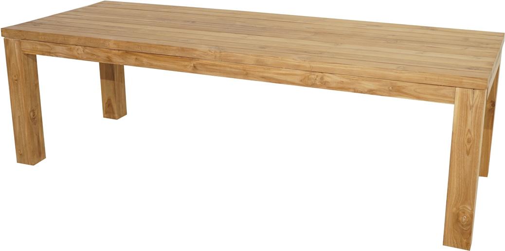 tisch dallas teak fsc recycled 240x100cm gartentische eckig gartentische gartenm bel. Black Bedroom Furniture Sets. Home Design Ideas