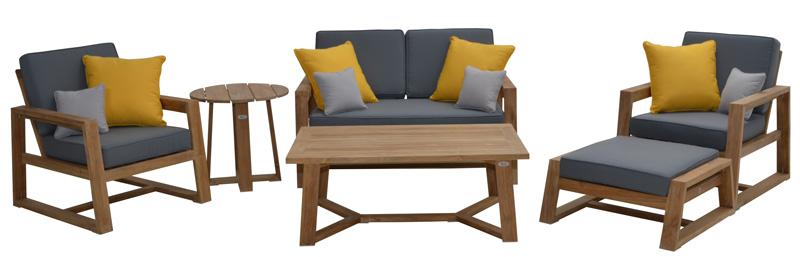 lounge set seattle teak fsc 100 sale gardanio ihr online shop f r hochwertige gartenm bel. Black Bedroom Furniture Sets. Home Design Ideas