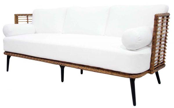 3er-Sofa COVELO Polyrattan