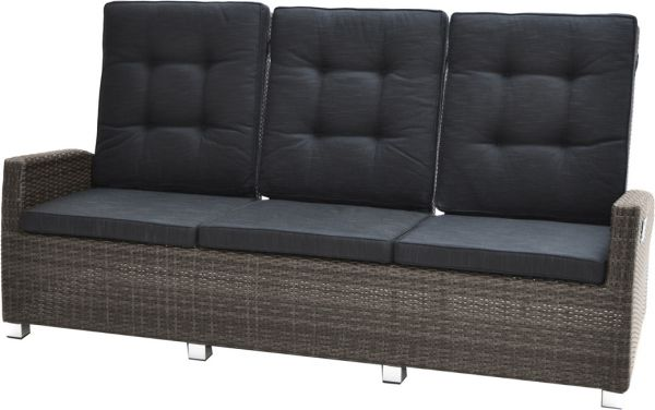 3er-Loungesofa ROCKING Polyrattangeflecht