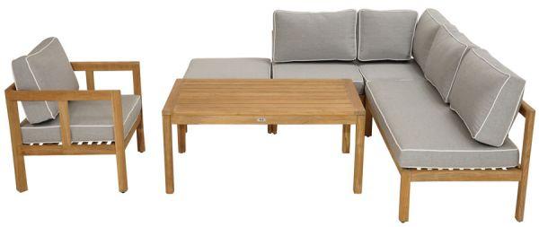 Modular-Lounge GAYA 6 tlg. Premkium Teak