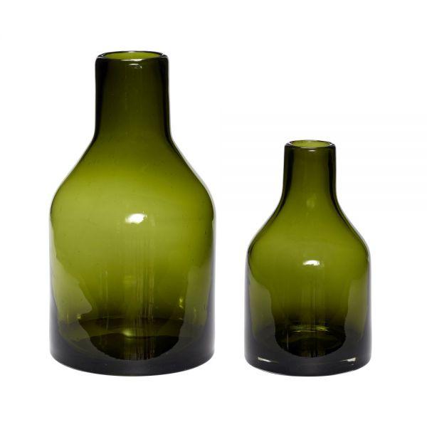 Vase MARIE 2er Set dunkelgrün