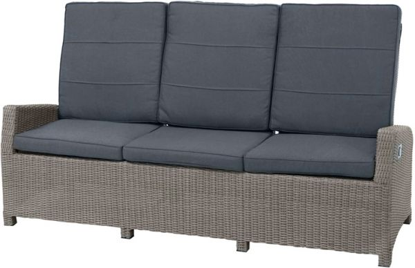 Comfort-3er-Sofa VIGO Polyrattangeflecht