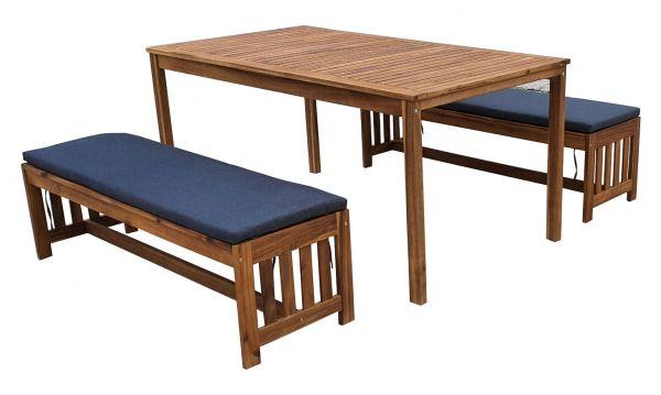 Garten-Sitzgruppe TONGA 2, 5-tlg. Akazie