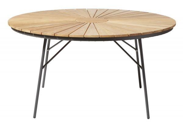 Gartentisch ELLEN Teak-Aluminium anthrazit Ø130cm