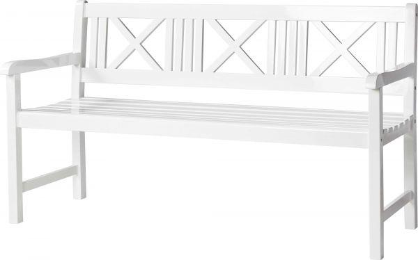 Gartenbank ROSENBORG 150cm weiß