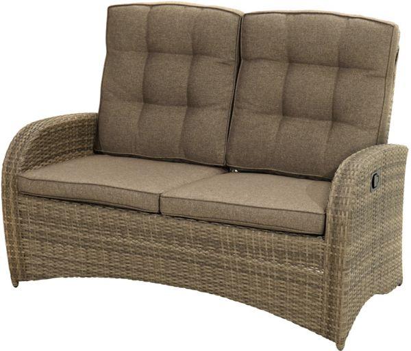 Comfort-2er-Sofa RABIDA Polyrattangeflecht