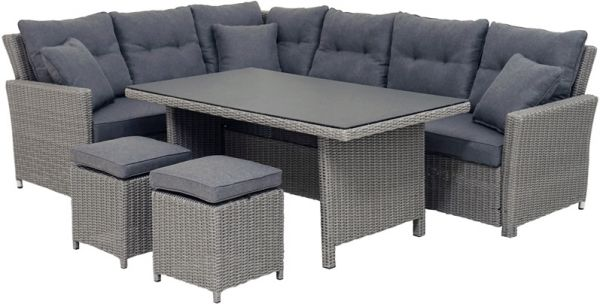 Lounge-Set VIGO Polyrattangeflecht