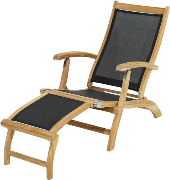 Deckchair FAIRCHILD Teak-Textilene®