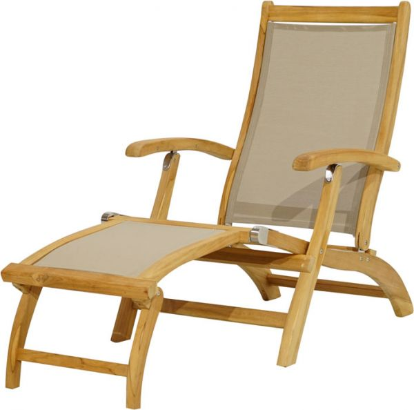 Deckchair RICHMOND Teak-Textilene®