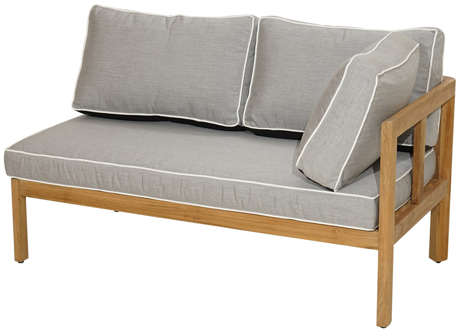 eckelement gaya rechts premium teak inkl polster gartenm bel gardanio ihr online shop. Black Bedroom Furniture Sets. Home Design Ideas