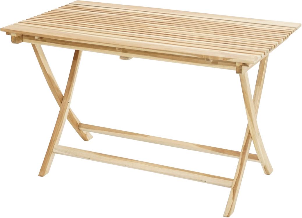 klapptisch milford eco teak 120x70cm tische sale gardanio ihr online shop f r. Black Bedroom Furniture Sets. Home Design Ideas