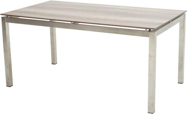 Tisch HUDSON Edelstahl 160x90cm