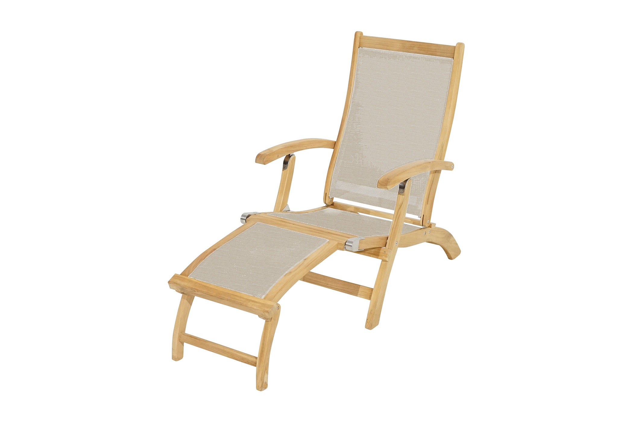 deckchair richmond teak textilene deckchairs. Black Bedroom Furniture Sets. Home Design Ideas