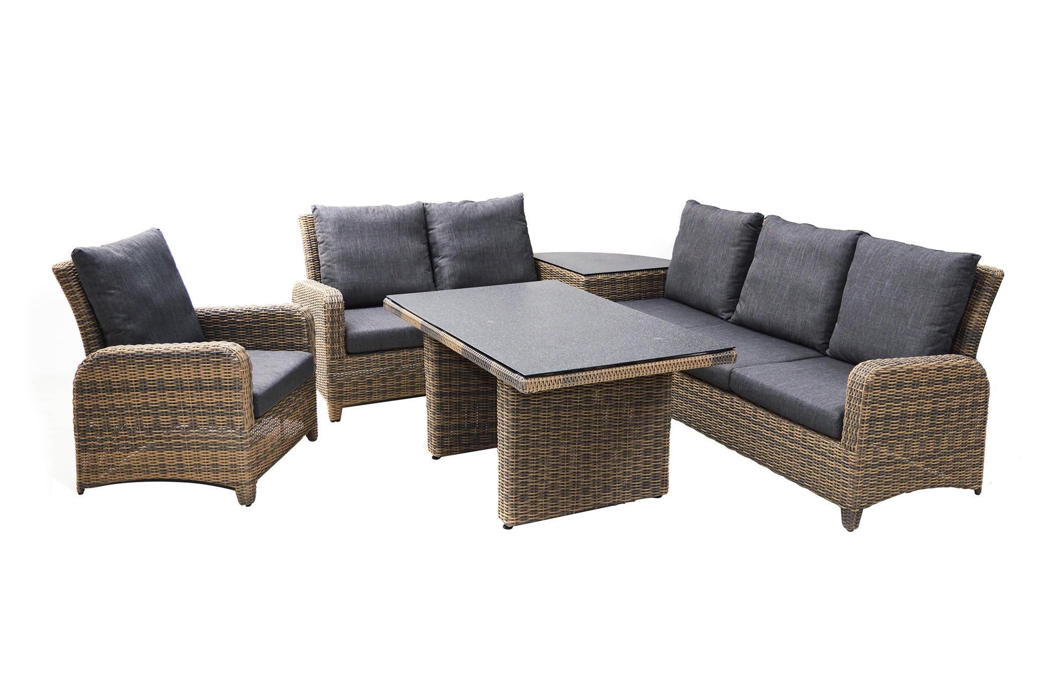 sitzgruppe roxanne polyrattangeflecht loungem bel gartenm bel gardanio ihr online shop. Black Bedroom Furniture Sets. Home Design Ideas