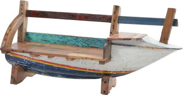 Bootsbank SEASIDE Bug rechts Unikate aus recycelten Fischerbooten