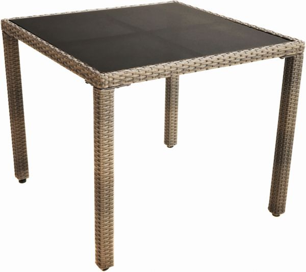 Tisch RABIDA BASIC Polyrattangeflecht 90x90cm
