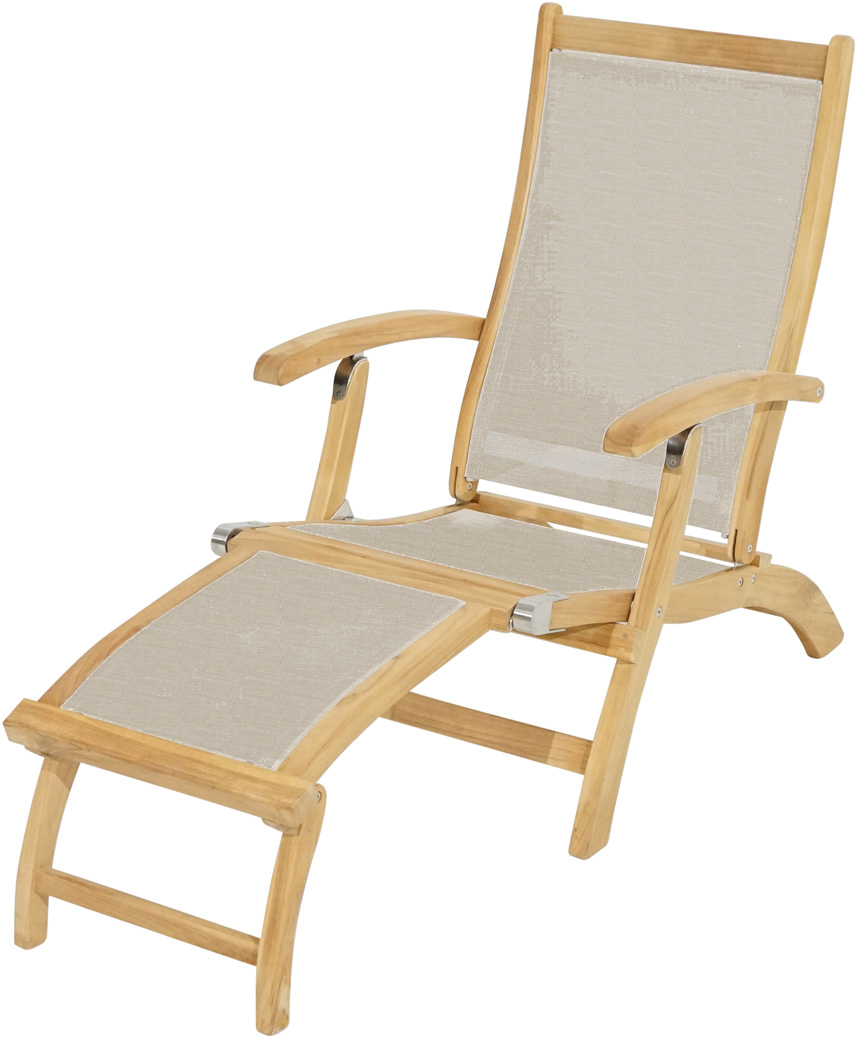 deckchair richmond teak textilene deckchairs gartenliegen deckchairs gartenm bel. Black Bedroom Furniture Sets. Home Design Ideas