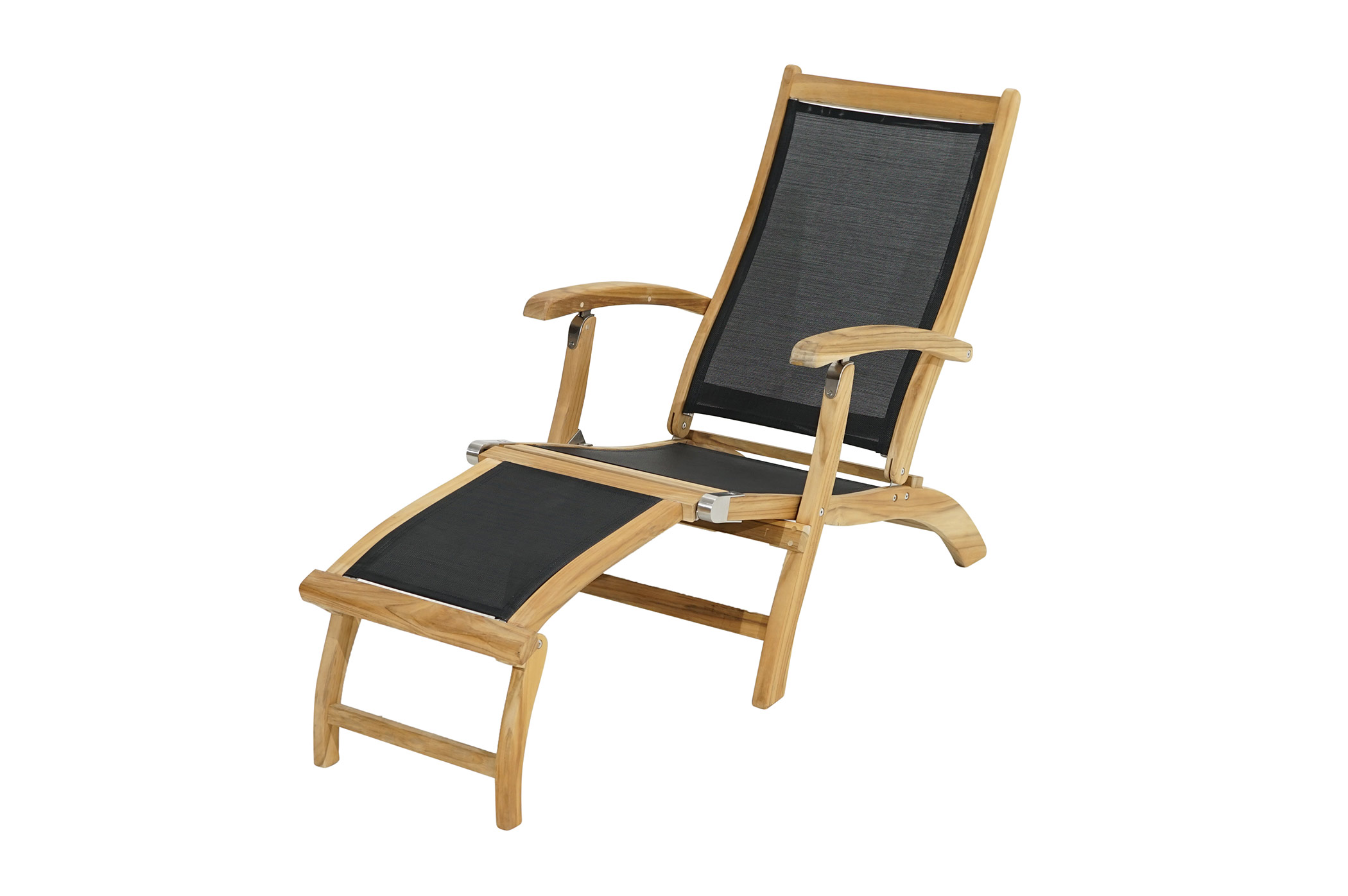 deckchair fairchild teak textilene deckchairs gartenliegen deckchairs gartenm bel. Black Bedroom Furniture Sets. Home Design Ideas