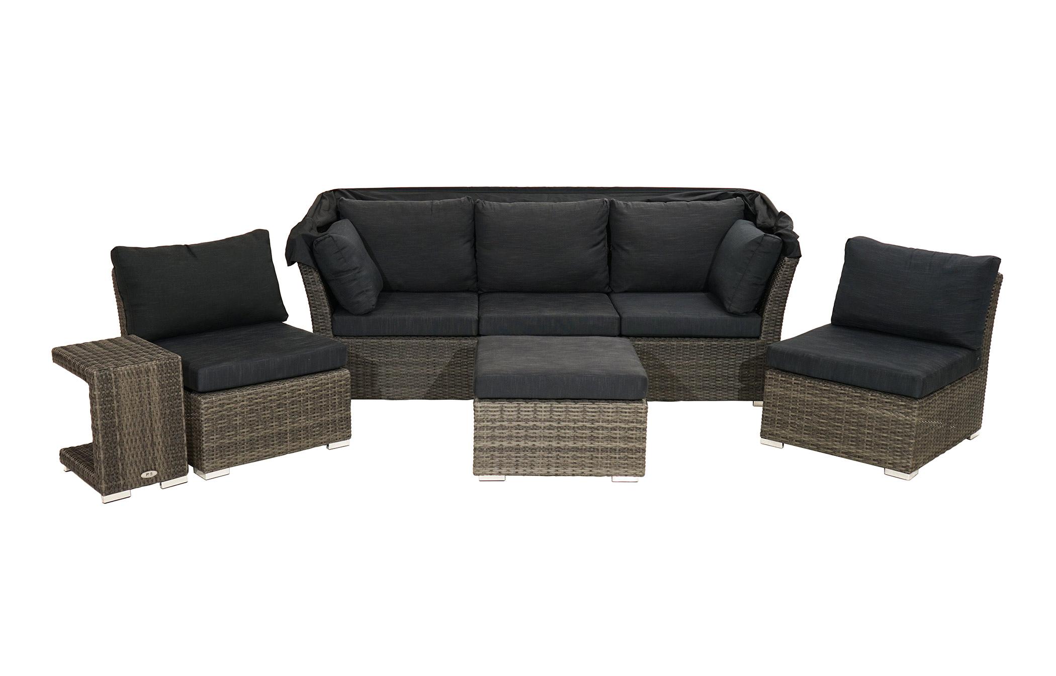 loungeset rocking polyrattangeflecht loungem bel gartenm bel gardanio ihr online shop. Black Bedroom Furniture Sets. Home Design Ideas
