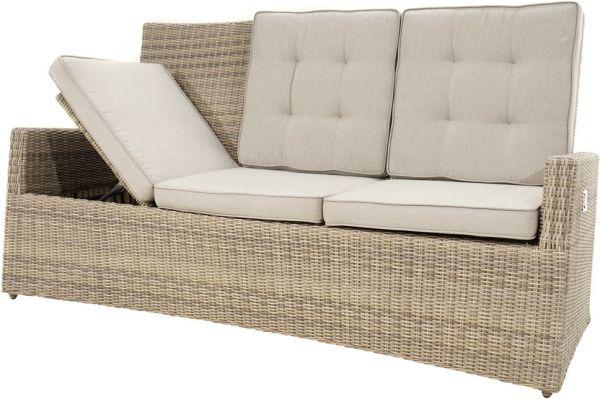 Comfort-3er-Sofa SAHARA Polyrattangeflecht