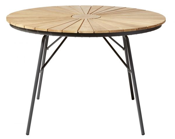 Gartentisch ELLEN Teak-Aluminium anthrazit Ø110cm