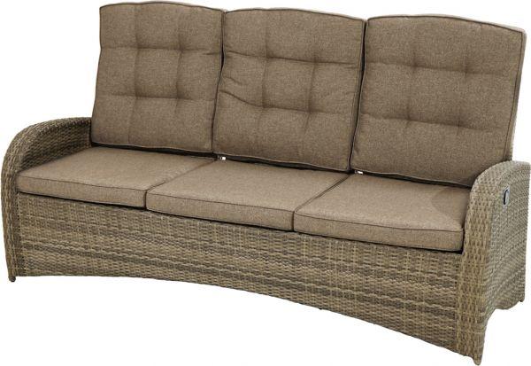Comfort-3er-Sofa RABIDA Polyrattangeflecht