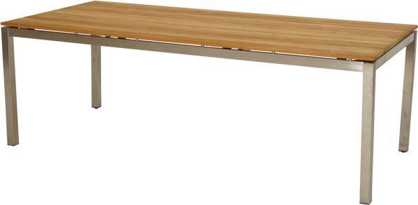 Tisch Brooklyn Teak Edelstahl 220x100 Cm Gartentische Eckig