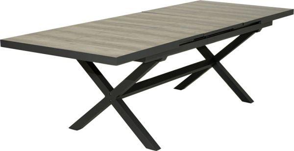 Auszugstisch MADISON 200/260x100 cm Aluminium/Keramik
