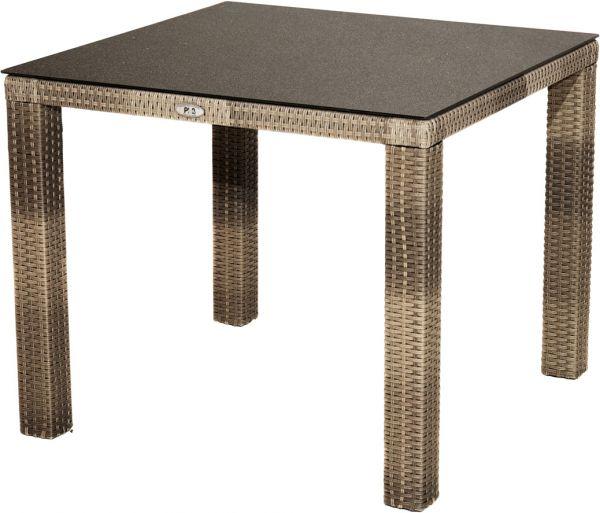Tisch RABIDA Polyrattangeflecht 90x90cm