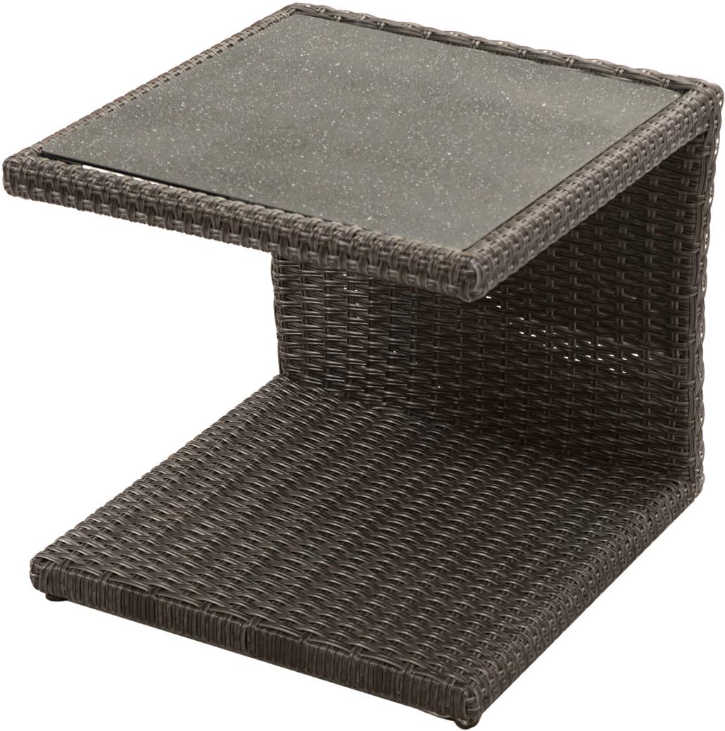 beistelltisch rocking polyrattangeflecht 50x45cm gartentische gartenm bel gardanio ihr. Black Bedroom Furniture Sets. Home Design Ideas