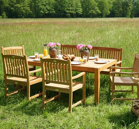 Diningset NEW HAVEN 6 tlg. Premium Teak