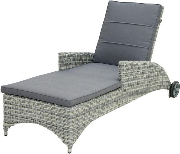Comfort-Rollliege MIAMI Polyrattangeflecht
