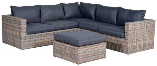 Loungeset YELLOWBIRD 4 tlg. Polyrattangeflecht