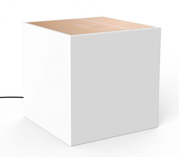 LED-Beistelltisch BORA Wood 43x43x43cm
