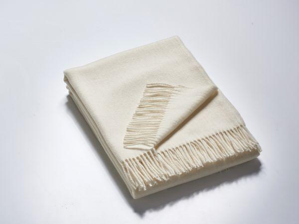 Plaid EMMA creme-weiß 140x190 cm