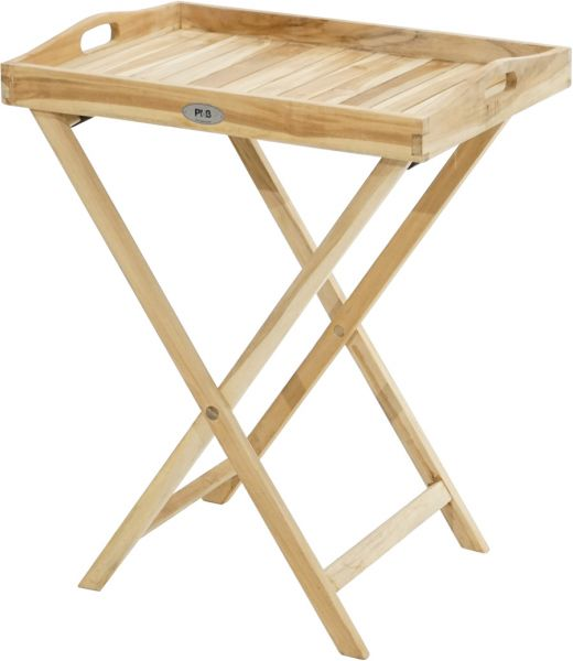 Tablett-Tisch ECO Teak 60x45cm