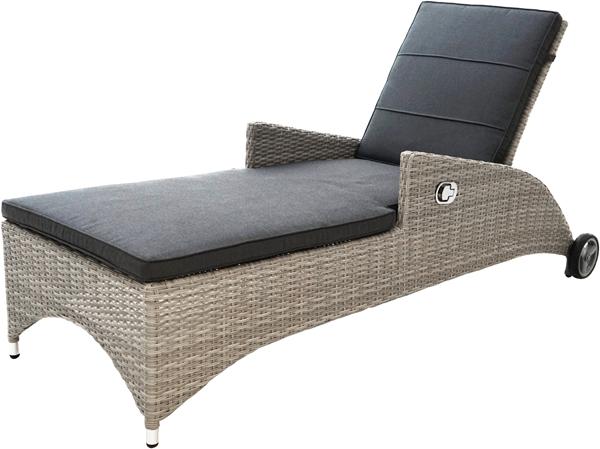Comfort-Liege CATANIA Polyrattangeflecht