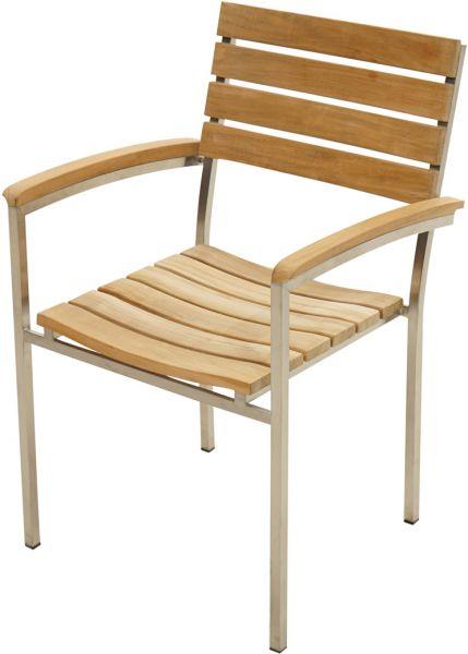 stapelsessel brooklyn teak edelstahl stapelst hle gartenst hle gartenm bel gardanio. Black Bedroom Furniture Sets. Home Design Ideas