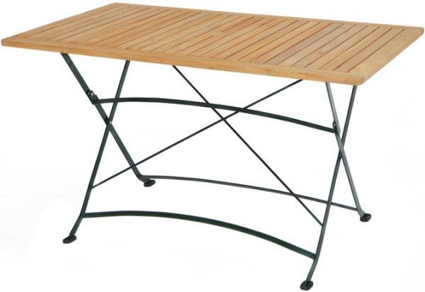 Klapptisch VERONA Teak-Eisen 130x80cm