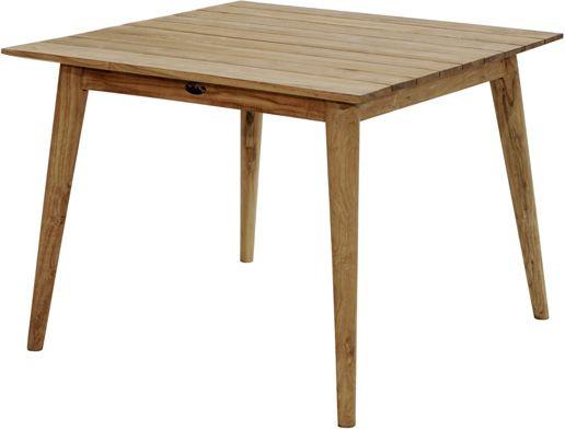 Design-Loft-Tisch WELLINGTON Premium Teak 100x100cm