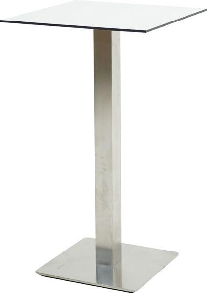 Bartisch SAIGON Edelstahl-HPL 60x60cm