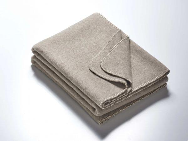 Wolldecke CLAIRE grau-meliert 155x200 cm