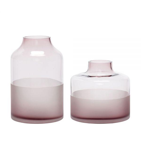 Vase MILENA 2er Set rosa